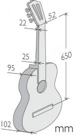 Guitarras Alhambra. Classical. 1 C medidas