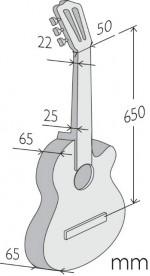 Guitarras Alhambra. Estudio. Z-NATURE CT EZ medidas