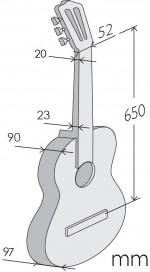 Guitarras Alhambra. Flamenco. 5 Fp OP Piñana medidas