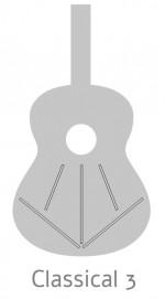Guitarras Alhambra. Estudio. 1 C Black Satin medidas