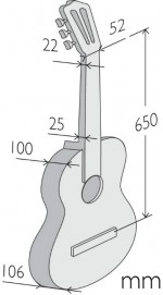 Guitarras Alhambra. Conservatory. 7 P A measures
