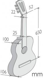 Guitarras Alhambra. Signature Guitars. Vilaplana NT Series measures