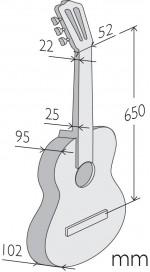 Guitarras Alhambra. Étude. Z-Nature Taille