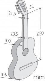 Guitarras Alhambra. Signature guitars. Luthier Aniversario medidas