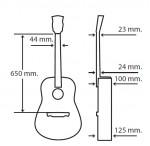 Guitarras Alhambra. Acústicas. W-100 CW OP medidas