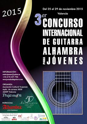 Concurso Internacional de Guitarra para J�venes Alhambra 2015