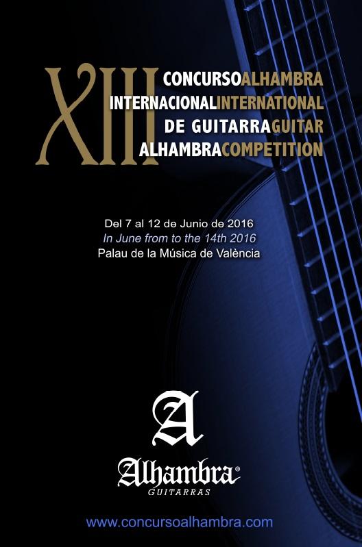 Concurso Internacional de Guitarra Alhambra 2016