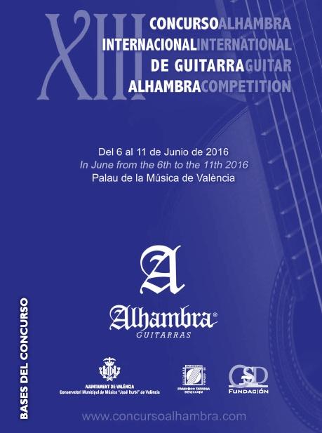 Bases del XIII Concurso Alhambra