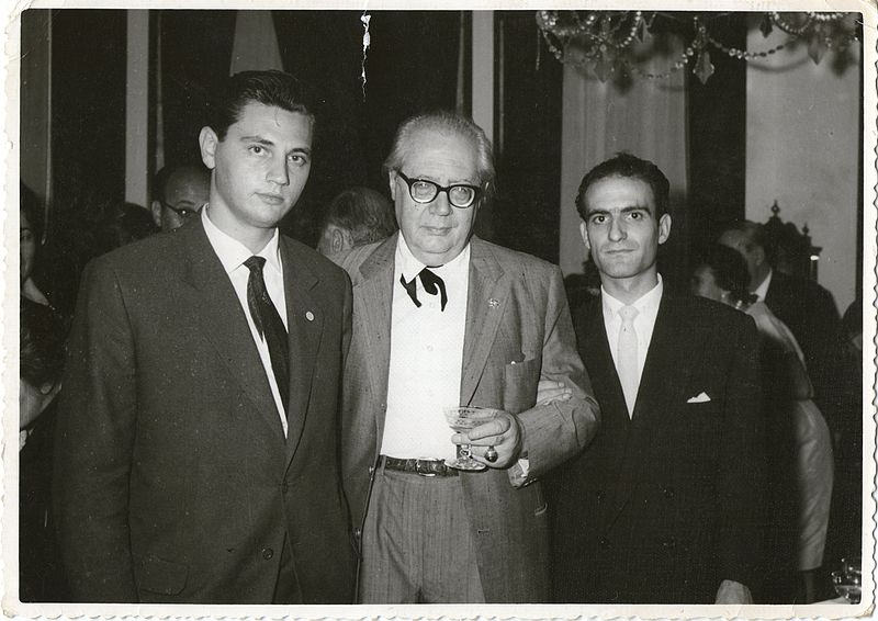 Jose Tomás and Jose Luis González with Andres Segovia