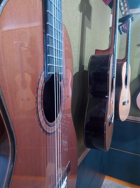 Guitarrista elige guitarra