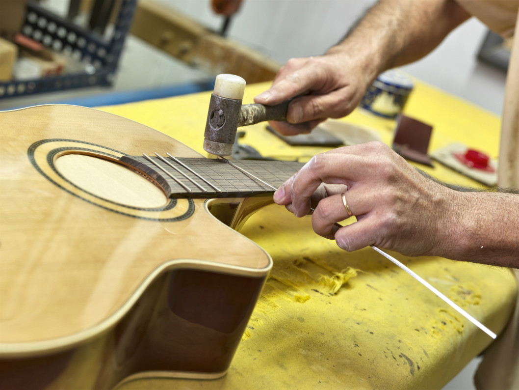 Parts of the guitar, the frets