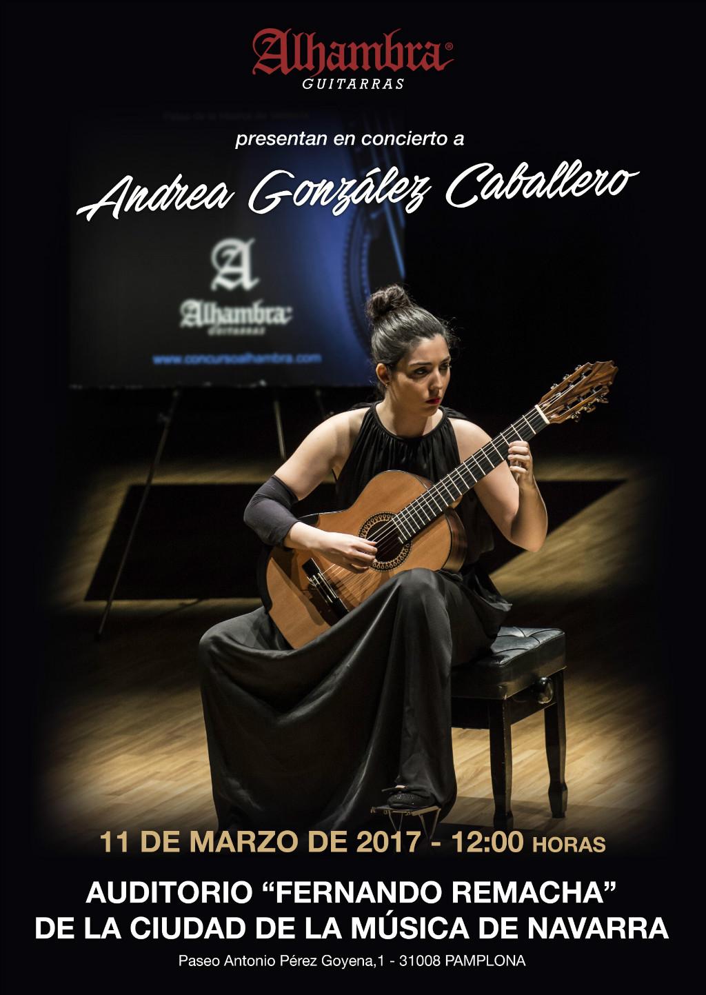 Concierto y Master class de Andrea González en Pamplona